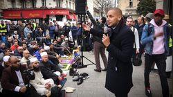 À la prière de rue devant la mairie de Clichy: