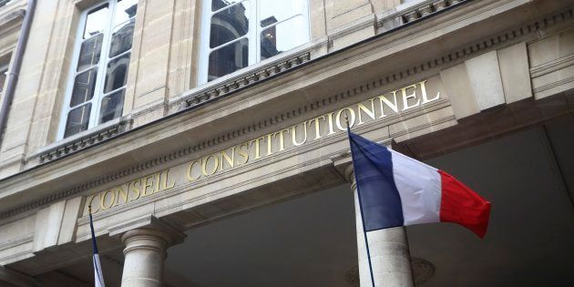 A photo taken on March 18, 2017 shows the outside of the French Constitutional Council headquarters in