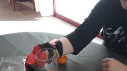 Des collégiens de 5e créent une main en 3D pour un