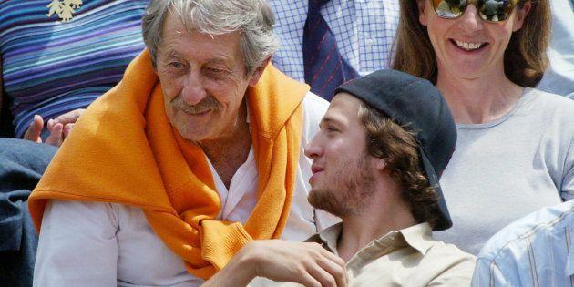 Jean Rochefort et Guillaume Canet à Roland Garros en