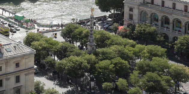 La place du Châtelet à Paris, où doit se tenir la manifestation