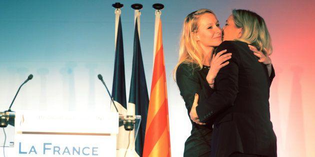 Marine Le Pen et Marion Maréchal Le Pen, pendant la campagne des régionales en