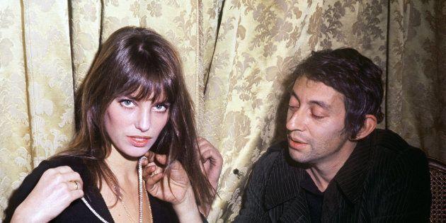 Jane Birkin et Serge Gainsbourg à Paris le 5 décembre