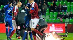 Le gardien de Lyon visé par des jets de pétards à Metz, le match