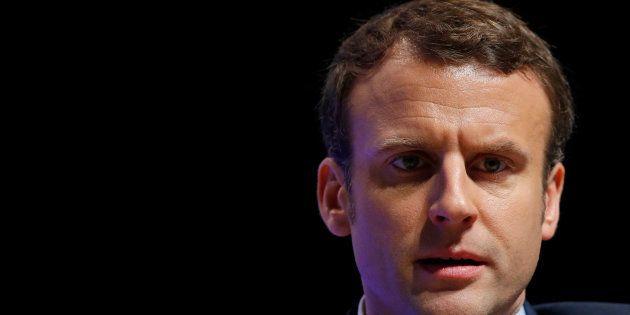 Emmanuel Macron, en réunion à Brest au mois de