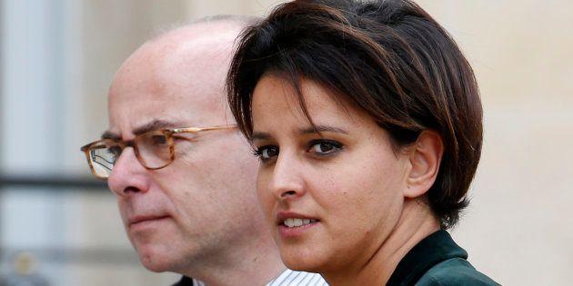 Najat Vallaud-Belkacem et Bernard Cazeneuve, à l'Elysée en