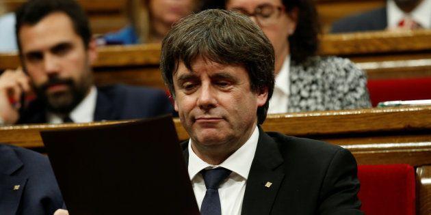 Carles Puigdemont à Barcelone le 10 octobre