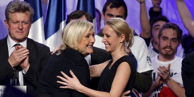 Marine Le Pen et Marion Maréchal-Le Pen à Paris en