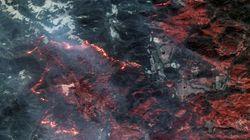 Vus de l'espace, les incendies qui ravagent la Californie sont encore plus
