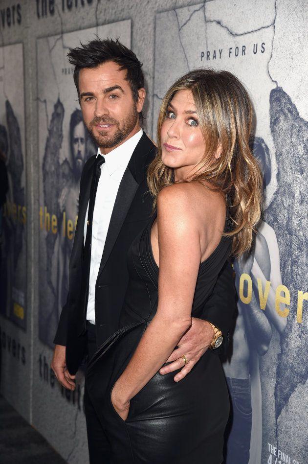 Jennifer Aniston et Justin Theroux lors de la première de la saison 3 de