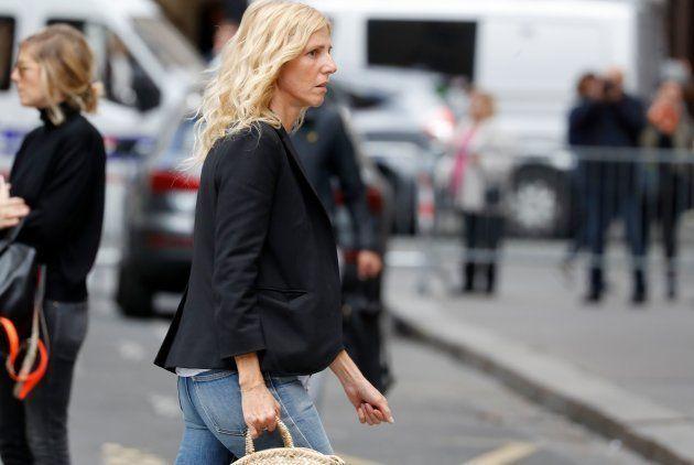 Sandrine Kiberlain aux funérailles de Jean Rochefort, ce vendredi 13