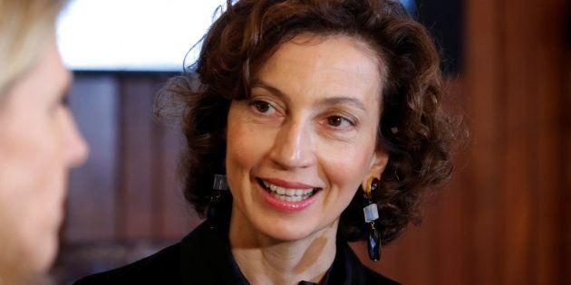 Audrey Azoulay au siège de l'Unesco à Paris, le 12