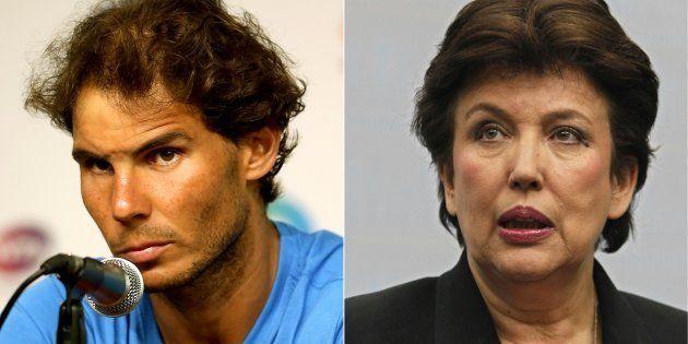 Rafael Nadal demande 100.000 euros à Roselyne Bachelot, l'ancienne ministre en propose