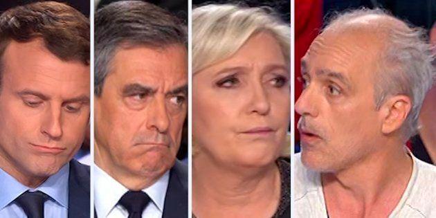 Les punchlines de Poutou auxquelles Macron, Fillon et Le Pen ont échappé lors du