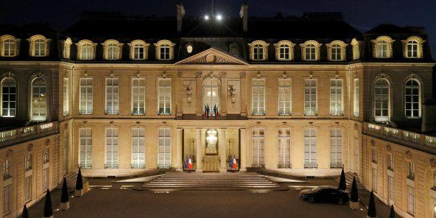 Le palais de l'Elysée à Paris, vu le 28 mars