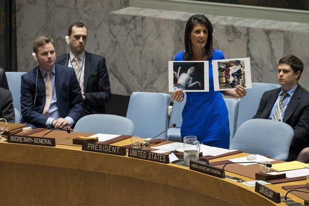 L'ambassadrice américaine à l'ONU, Nikki Haley, dénonce l'attaque