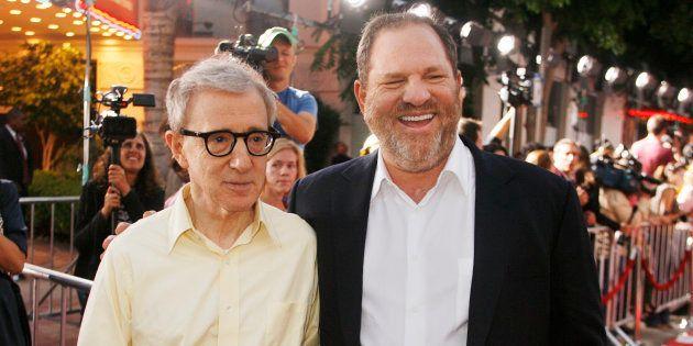 Woody Allen et Harvey Weinstein à Los Angeles en