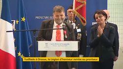 L'émotion et le sens de l'humour du proviseur du lycée de Grasse décoré de la Légion