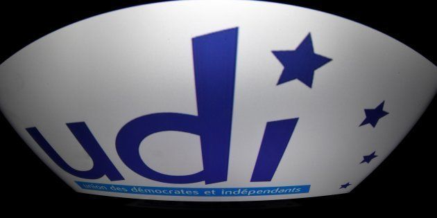 Le logo de l'UDI. AFP PHOTO / LIONEL