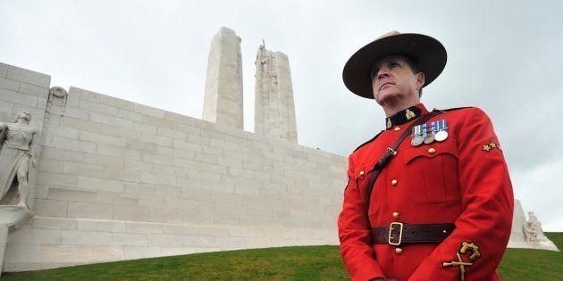 Un caporal de l'armée canadienne à Vimy, le 9 avril