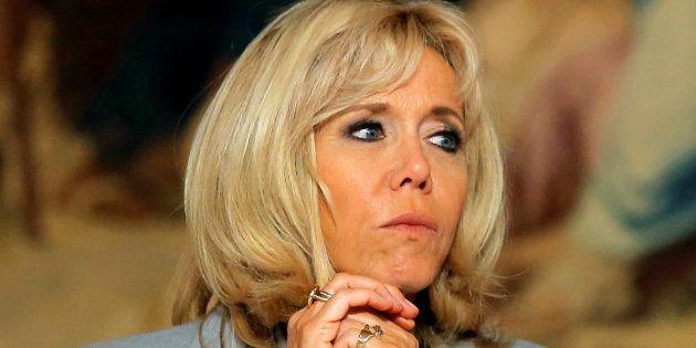 Brigitte Macron à l'Elysée au mois de