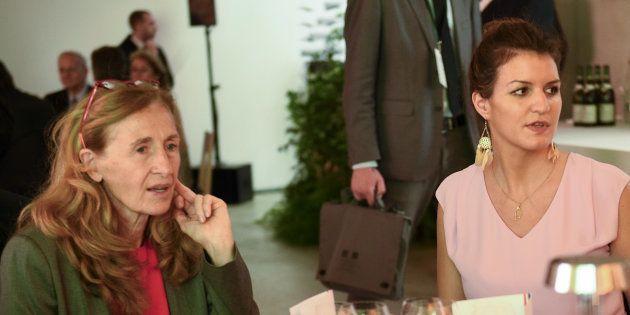 La secrétaire d'Etat Marlene Schiappa et la ministre de la Justice Nicole Belloubet planchent sur un...