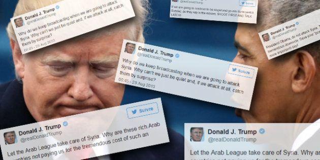 Ces tweets de Trump à Obama en 2013 montrent à quel point il a changé d'avis sur la