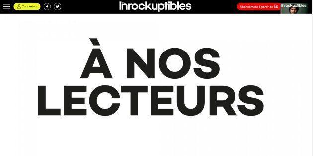 Les Inrocks réagissent à la polémique provoquée par leur couverture sur Bertrand