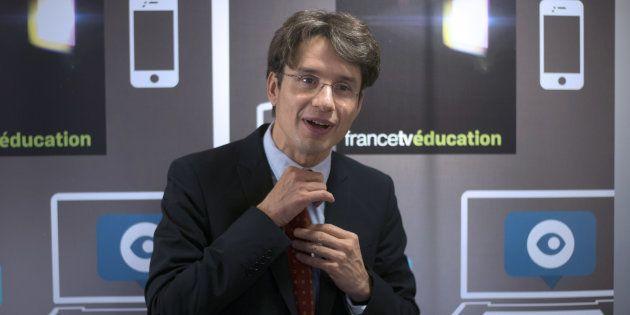 Bruno Patino lors d'une conférence de presse pour le lancement du site web du