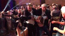 Bagarres avant le meeting de Marine Le Pen à Ajaccio, la salle