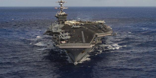 Après les frappes en Syrie, les Etats-Unis envoient un porte-avions vers la Corée du