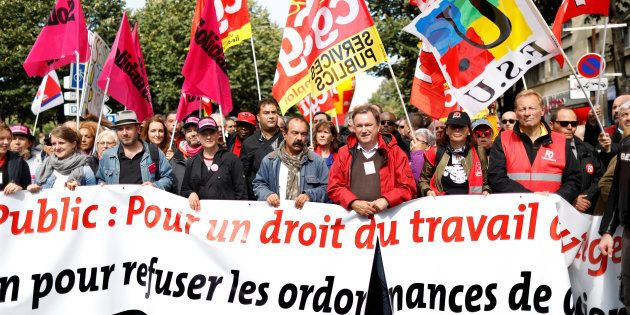 Manifestation contre la réforme du code du travail à l'appel de la