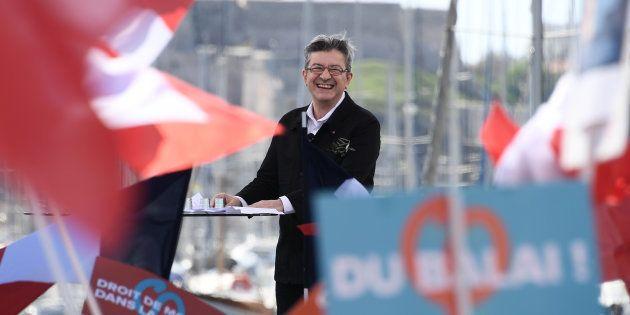 Jean-Luc Mélenchon sur le Vieux Port de Marseille ce dimanche 9