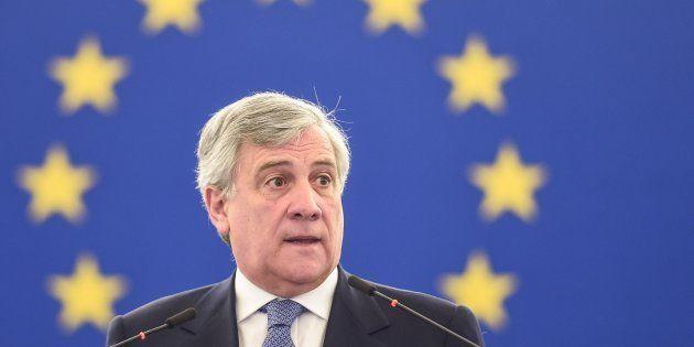 Le président du Parlement européen Antonio Tajani à Strasbourg le 5 avril