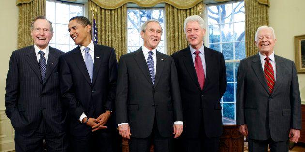 Ce qu'il faut retenir de ces 5 Présidents américains réunis pour soutenir les victimes des