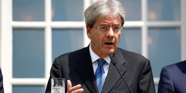 Paolo Gentiloni en conférence de presse, le 25 juin