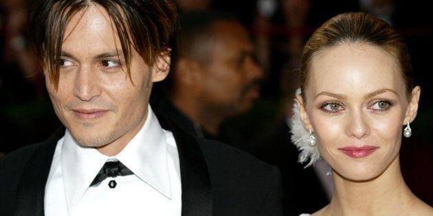 Johnny Depp et Vanessa Paradis à Hollywood le 29 février