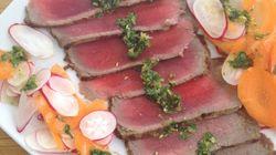 Vite fait, bien fait: Tataki de bœuf et pesto de