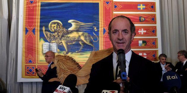Le président de la Vénétie Luca Zaia à Venise le 22 octobre