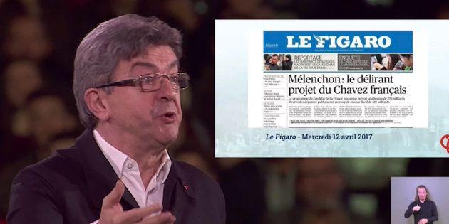 Jean-Luc Mélenchon se paye Le Figaro en rendant hommage au
