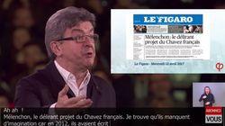 Jean-Luc Mélenchon se paie Le Figaro en rendant hommage au