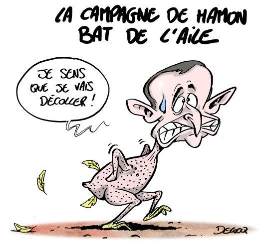 La campagne de Benoît Hamon bat de