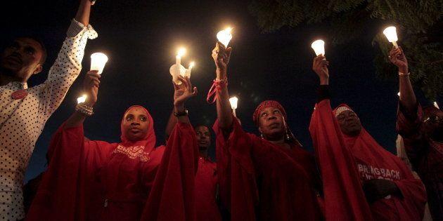 3 ans après, nous n'oublions les 195 lycéennes encore aux mains de Boko Haram REUTERS/Afolabi