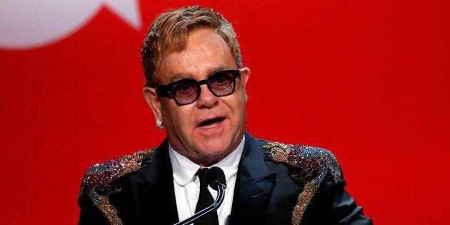 Elton John à New York, le 2 novembre