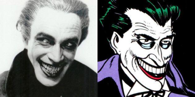 L'acteur Conrad Veidt et la première apparition du Joker dans Batman #1 en 1940 (dessiné par Bob Kane...