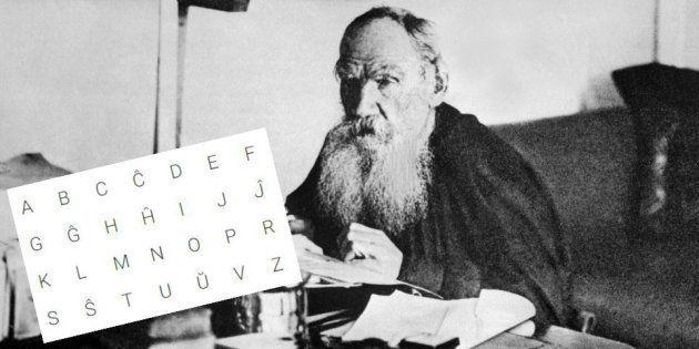 Le romancier Léon Tolstoï écrit dans son cabinet de Iasnaîa Poliana, en Russie, en