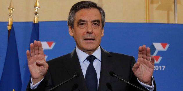 François Fillon après sa victoire lors de la primaire de la droite et du centre, le 27 novembre 2016...