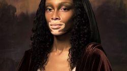 Winnie Harlow et d'autres mannequins transformées en peintures