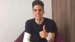 Le joueur de Dortmund blessé dans l'attaque a quitté