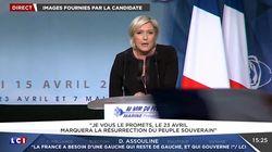 Le Pen s'inquiète de l'abstention et accuse Macron de mettre